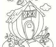 Coloring pages Imaginary house