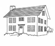Coloring pages Landscape of a House