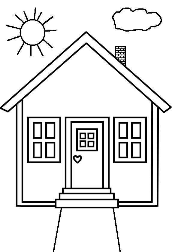 Free coloring and drawings Maternal house Coloring page