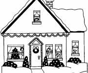 Coloring pages Modern Christmas house