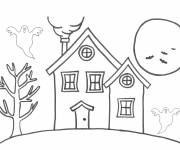 Free coloring and drawings Simple house Coloring page