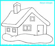 Coloring pages Snowy house