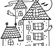 Coloring pages The Ghosts around The House