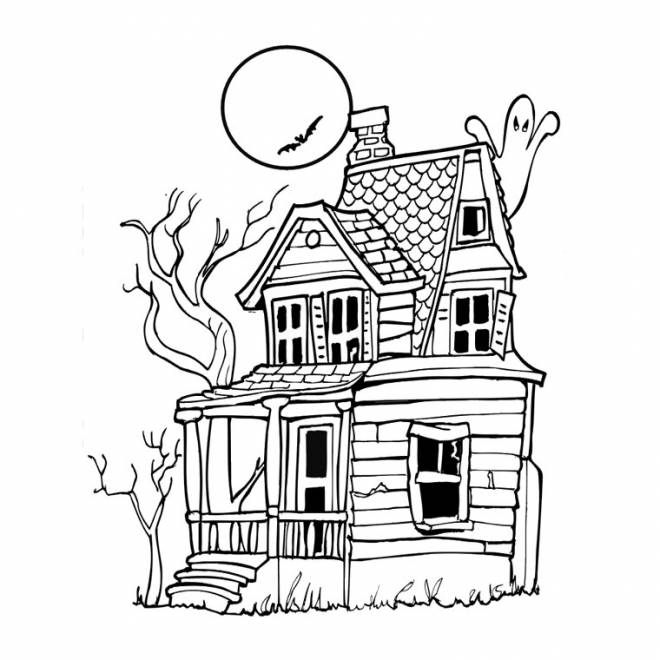 Free coloring and drawings Witch House Coloring page
