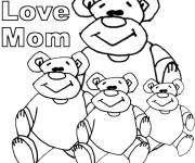Free coloring and drawings Dessin I Love You Mom Coloring page