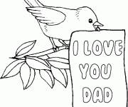 Free coloring and drawings I Love You Dad Coloring page