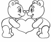 Free coloring and drawings I Love You for children Coloring page