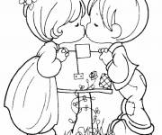 Coloring pages I Love You for The Little Ones