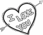 Free coloring and drawings I Love You love Expression Coloring page