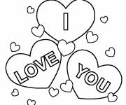 Free coloring and drawings I love you maternal Coloring page