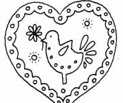 Free coloring and drawings I Love You Nounou Coloring page