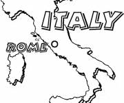 Coloring pages Color map of Italy