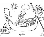 Coloring pages Italy Cartoon