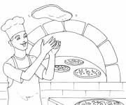 Coloring pages Italy Pizza