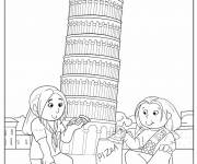 Coloring pages Italy The Tower of Pisa