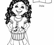 Coloring pages Sophia Italian Woman