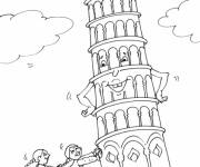 Coloring pages The Leaning Tower of Pisa