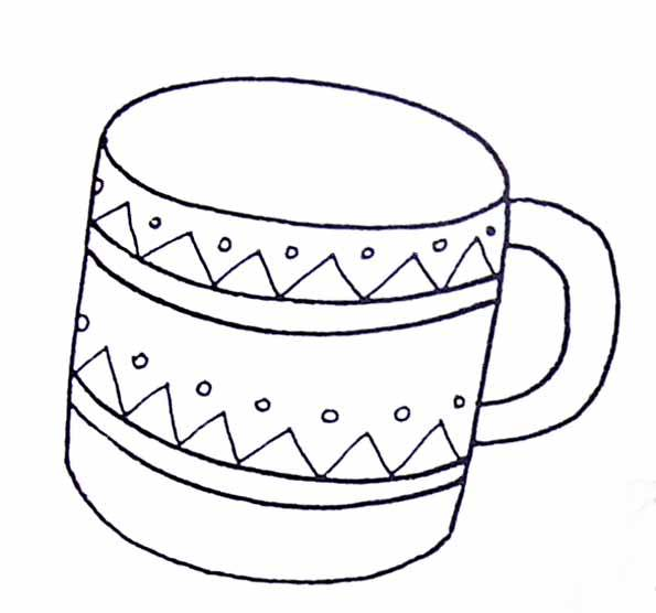Free coloring and drawings A cup Coloring page