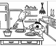 Coloring pages Cartoon Kitchen