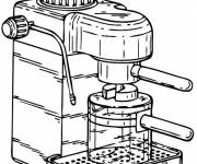 Coloring pages Coffee machine in the kitchen