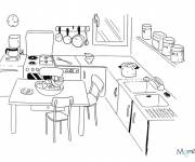 Coloring pages Kitchen in color