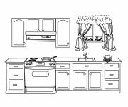 Coloring pages Maternal kitchen