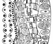 Coloring pages Extraordinary Klimt painting