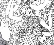 Coloring pages Gustav Klimt painting