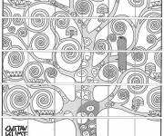 Coloring pages Klimt for adults
