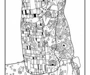Coloring pages Klimt for relaxation