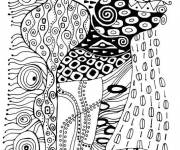 Coloring pages Klimt to download
