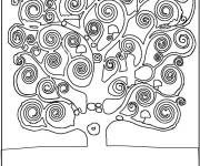 Coloring pages Klimt Tree of Life
