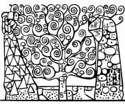 Coloring pages Nice Klimt Painting