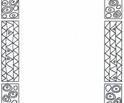 Coloring pages Stylized Klimt
