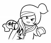 Coloring pages Lego girl