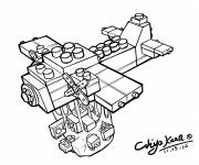 Coloring pages Lego Plane