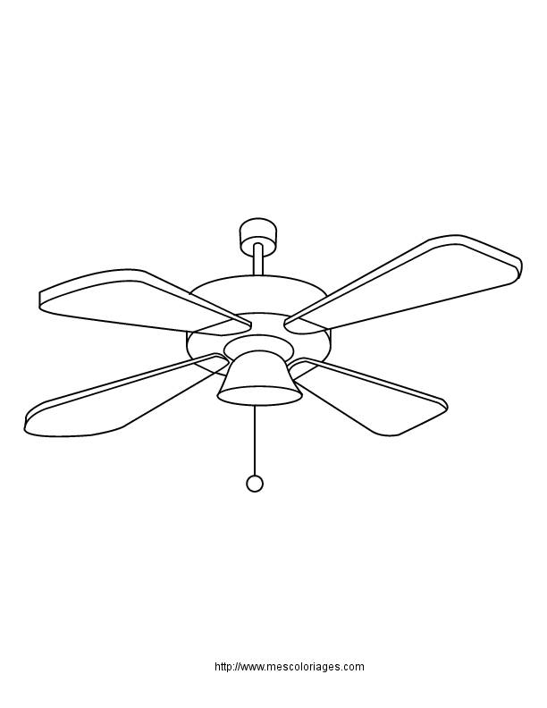 Free coloring and drawings A fan Coloring page