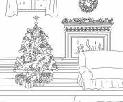 Free coloring and drawings Christmas Fair Coloring page