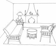 Free coloring and drawings Easy lounge Coloring page