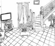 Free coloring and drawings Nursery room Coloring page