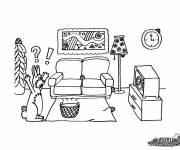 Free coloring and drawings Rabbit Lounge Coloring page