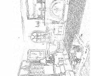 Free coloring and drawings Realistic living room Coloring page