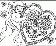 Free coloring and drawings Angel of Love Coloring page