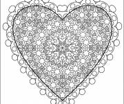 Free coloring and drawings Cut out love Coloring page