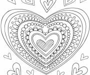 Free coloring and drawings Heart of Love in color Coloring page