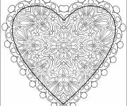 Free coloring and drawings Heart of Love online Coloring page