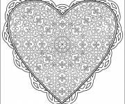 Free coloring and drawings Love Heart Coloring page