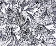 Coloring pages Love painting to decorate
