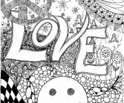 Free coloring and drawings Magic love Coloring page