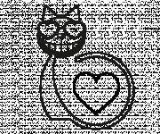Free coloring and drawings The Loving Cat Coloring page